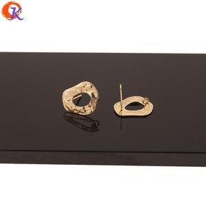 Image 2 - Cordial Design 50Pcs 14*18MM Jóias Acessórios/Feitos À Mão/Chapeamento de Ouro Genuíno/DIY/ forma Irregular/Pin De Prata/Brincos Do Parafuso Prisioneiro