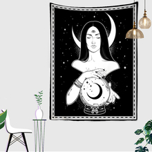 Tarot Tapestry Carpet Hanging-Room Dorm Psychedelic Wall Home-Decoration Woman Flower
