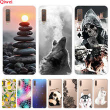 For Samsung A7 2018 Case Silicone Soft Clear Back Cover Prin
