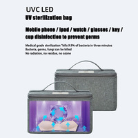 UV Bag Eliminator for Clothes Underwear Sock Mask Ultraviolet Pack for Makeup Pantie 28X22.5X7cm Home Storage & Organization