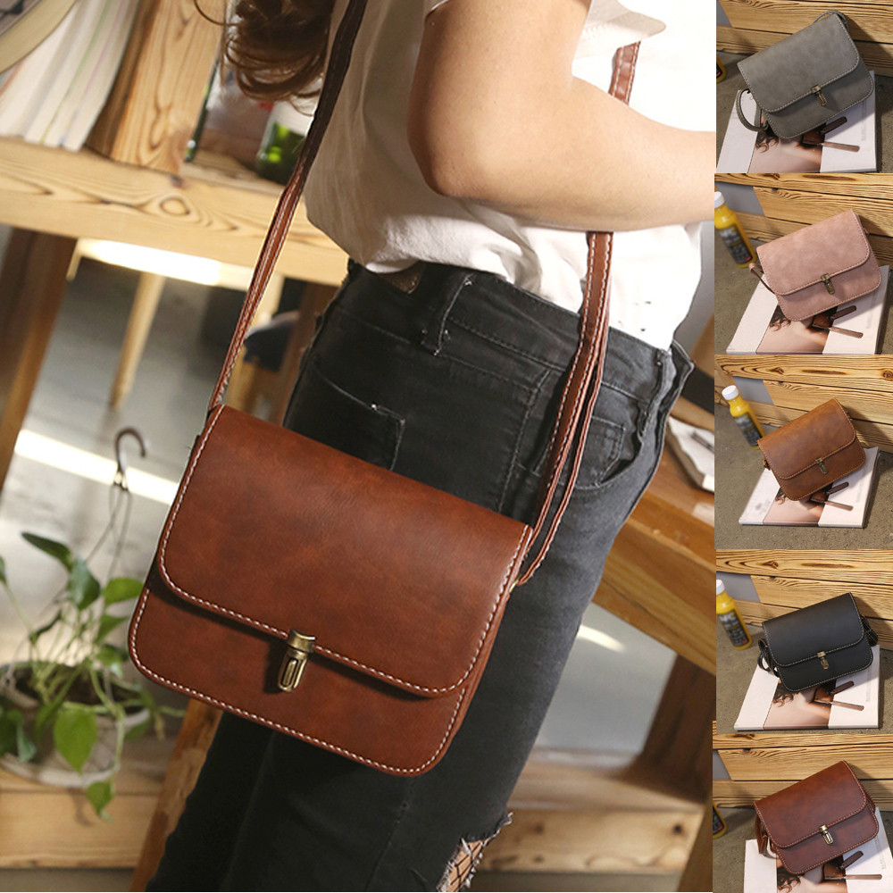 Leather Crossbody Bags For Women 2019 New Fashion Vintage Casual Handbag Shoulder Tote Crossbody Bag Women Torebki Damskie