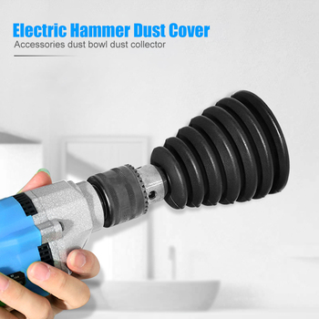 Electric Hammer Dust Cover Impact Drill Dust Cover Black White Power Tool Accessories Ash Bowl Collector Decoration Supplies image