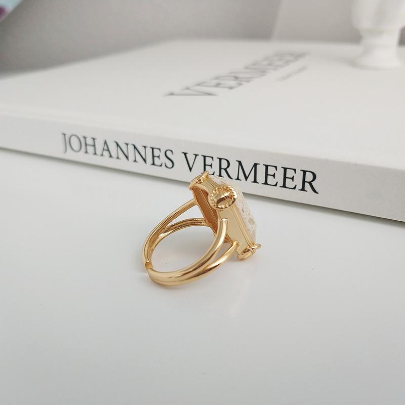 Кольца leouerry из натурального мрамора серебро 925 пробы с