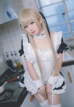 New Anime Yosuga no Sora Cosplay Costume Kasugano Sora Maid Dress Carnival Halloween Party Costumes for Women 2