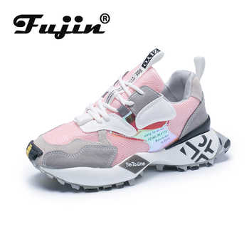 Fujin women sneakers 2020 spring autumn ladies shoes platform  for women flats lace up breathable sport casual platform shoes - DISCOUNT ITEM  45% OFF All Category