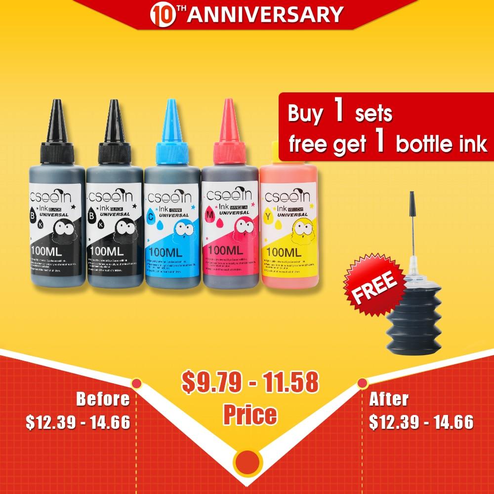 100ml Refill Dye Ink Kit For HP 903 904 905 Ink Cartridge Ciss For HP OfficeJet 6950 6956 HP OfficeJet Pro 6960 6970 Printer 5pc