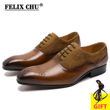 Oxford-Shoes Genuine-Leather Wedding-Suit Pointed-Toe Business Formal Male Big-Size Casual