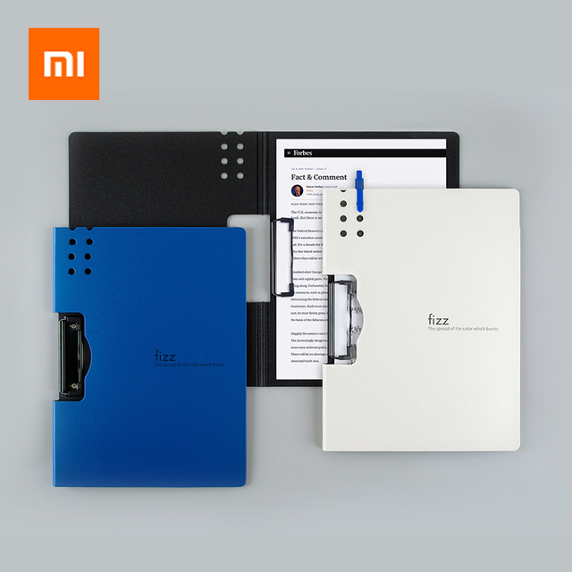 Xiaomi Fizz Horizontal A4 Folder 7colors Matte Texture Folder Portable Pad Portable Pen Tray Office Metting File Pocket 2 types