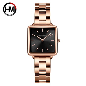 Japan Movement Drop Shipping Women Rose Gold Simple Fashion Casual Brand Wristwatch Luxury Lady Square Watches Relogio Feminino - discount item  61% OFF Women's Watches