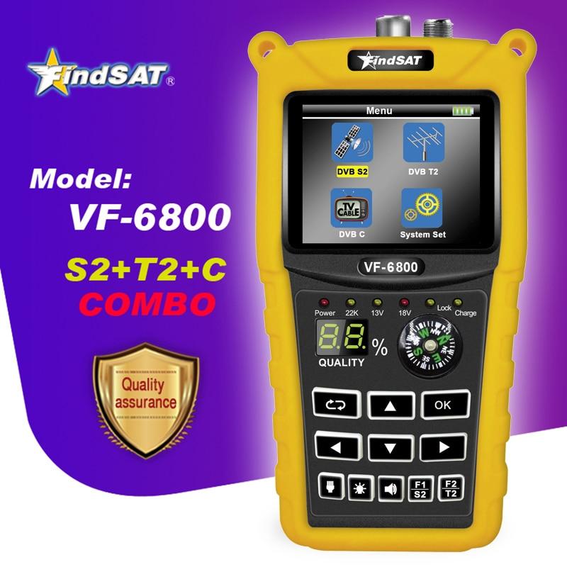 VF 6800 Satellite Finder Meter Support DVB T2/S2/C SatFinder Meter For Satellite TV Receiver dvb t2 sat finder Satellite TV Receiver     - title=