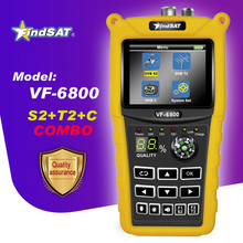 VF 6800 Satellite Finder Meter Supporto DVB T2/S2/C SatFinder Metro Per La TV Satellitare Ricevitore dvb t2 sat finder