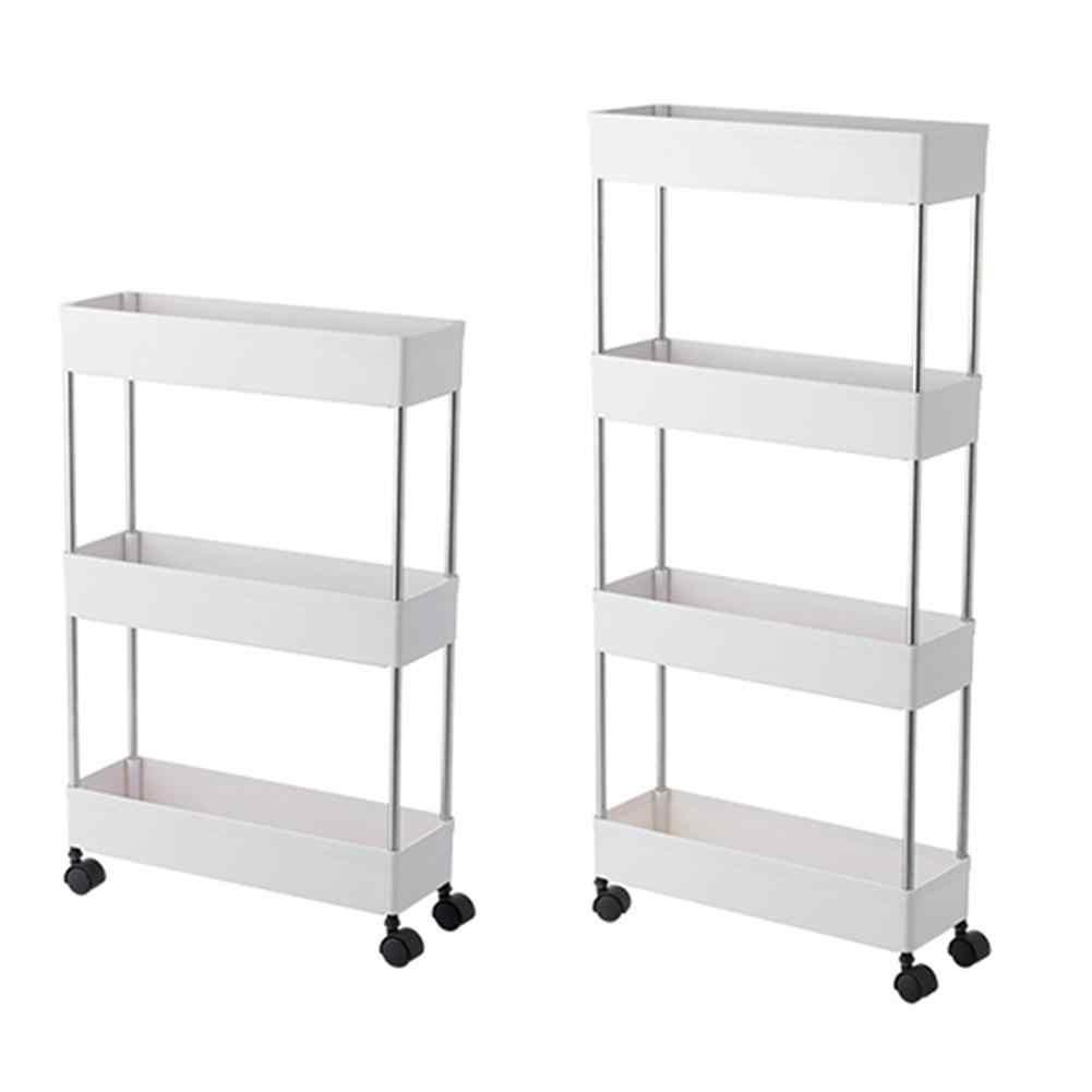 3 Tier 4 Tier Slim Storage Cart Mobile Shelving Unit Organizer Slide Out Storage Rolling Utility Cart Rack For Kitchen Bathroom Storage Holders Racks Aliexpress