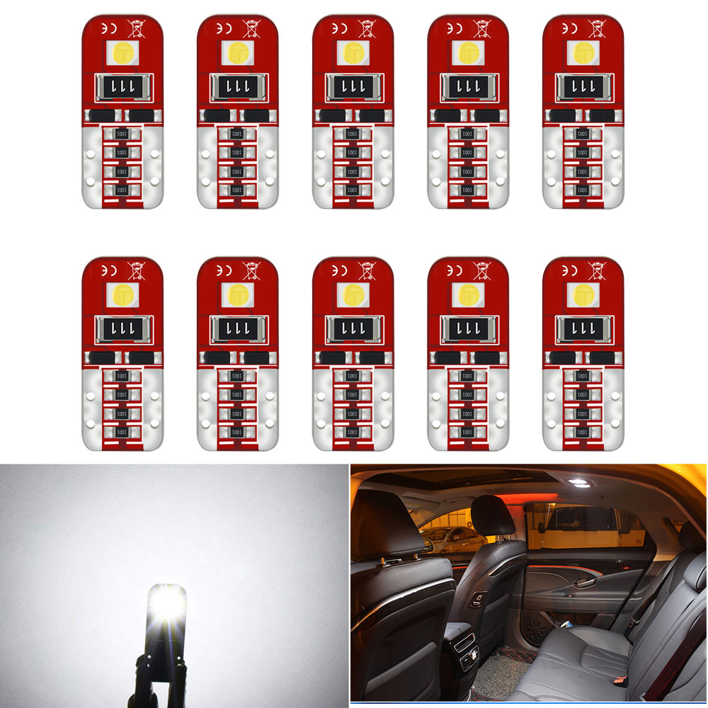 10x W5W T10 Led Bulb Canbus 2825 Car Clearance Light Interior Lamp For <font><b>Opel</b></font> Astra H J G <font><b>Corsa</b></font> <font><b>D</b></font> C Insignia Vectra B Zafira Mokka image