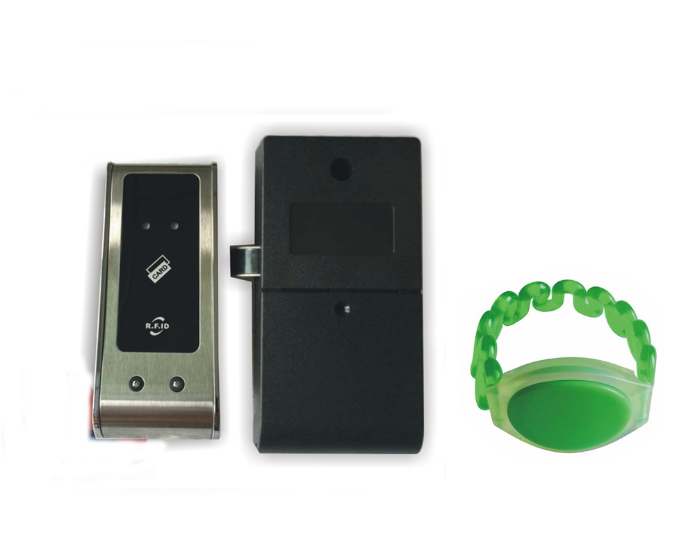 125KHZ  RFID Card Key Metal Shell  Electronic Cabinet Locker Lock  With Dry Battery+one Wristband