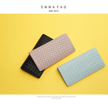 EMMA YAO Women's leather wallet female brand coin purses hol