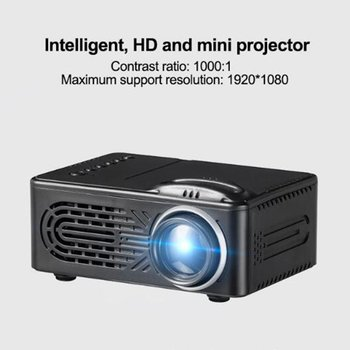 Mini LED Projector RD 814 supports 1080P HD 400Lumens with Multi-Interface USB AV TF House Media player 320x240 Pixels
