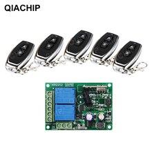 QIACHIP 433 Mhz Universal Wireless Fernbedienung Schalter AC 110 V 220 V 2CH Relais Empfänger Modul + RF Remote sender Led Licht