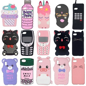 3D Cartoon cat Pig ice cream fashionable soft silicone Phone cover case For iPhone 4 4s 5 5s SE 6 6s 7 8 Plus 11 Pro X XR XS Max