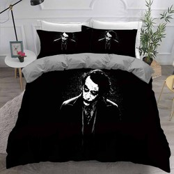 Joker 3D Print czarna narzuta dekoracyjna poszewka na poduszkę wysokiej jakości mikrofibra pokój dla chłopców komplety pościeli Film pojedynczy podwójny zestaw poszewek