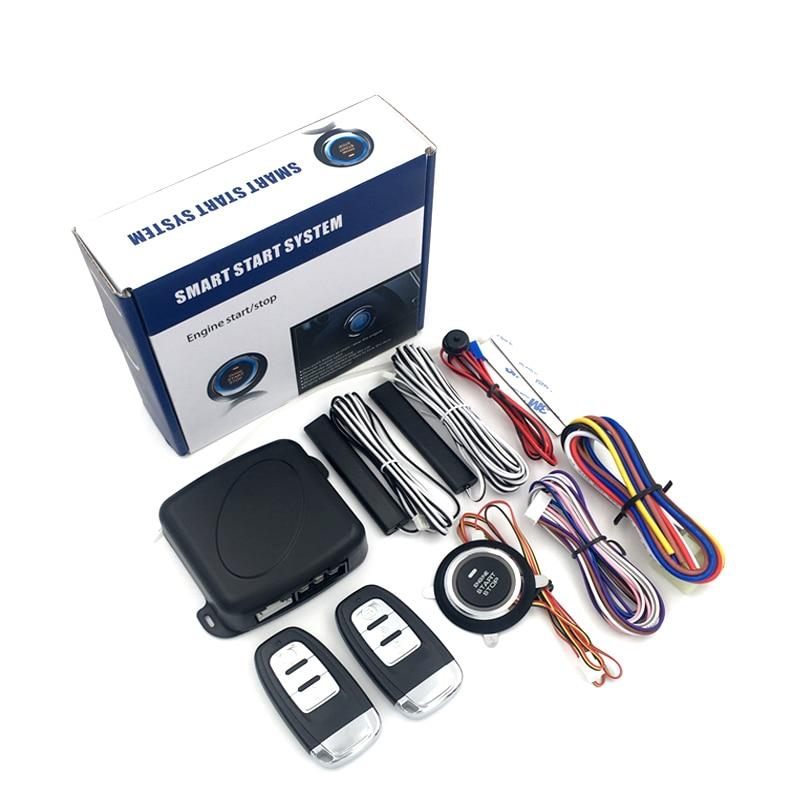 Auto Car Alarm Engine Push Start Stop Security Alarm System RFID Lock Ignition Switch PKE Keyless Entry Cars Anti-theft System