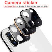 Camera Lens Sticker For Iphone X Xs Max Second Change 11 Pro Max 11pro Sticker Modified Camera Cover Titanium Alloy 10 Protector