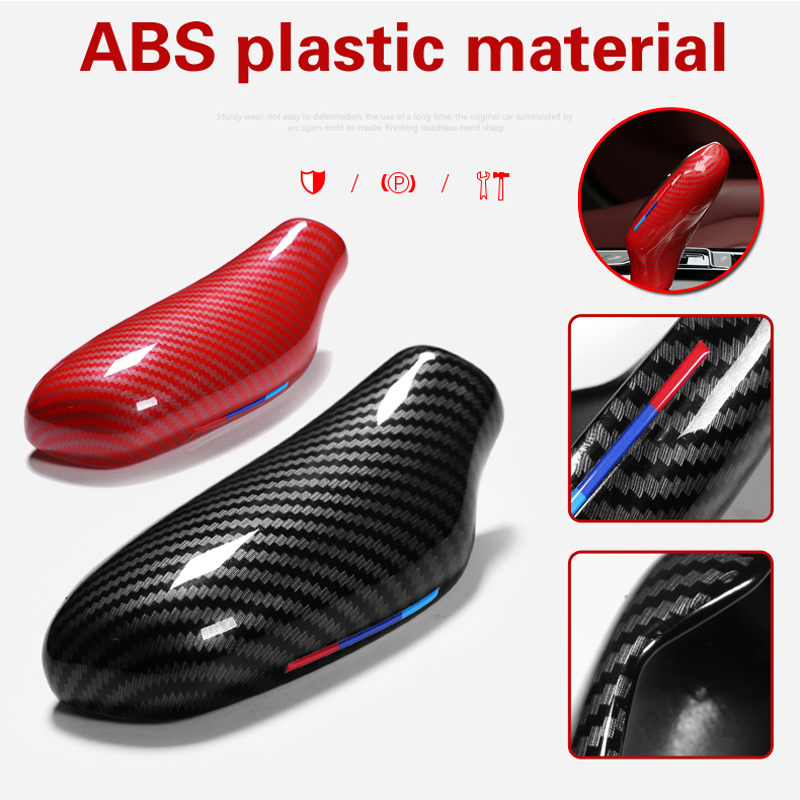 New Car ABS Carbon Gear Shift Knob Sticker Cover Trim For BMW 5 Series X3 X4 G30 G31 G01 G02 G32 6gt LHD|Car Stickers| |  - title=