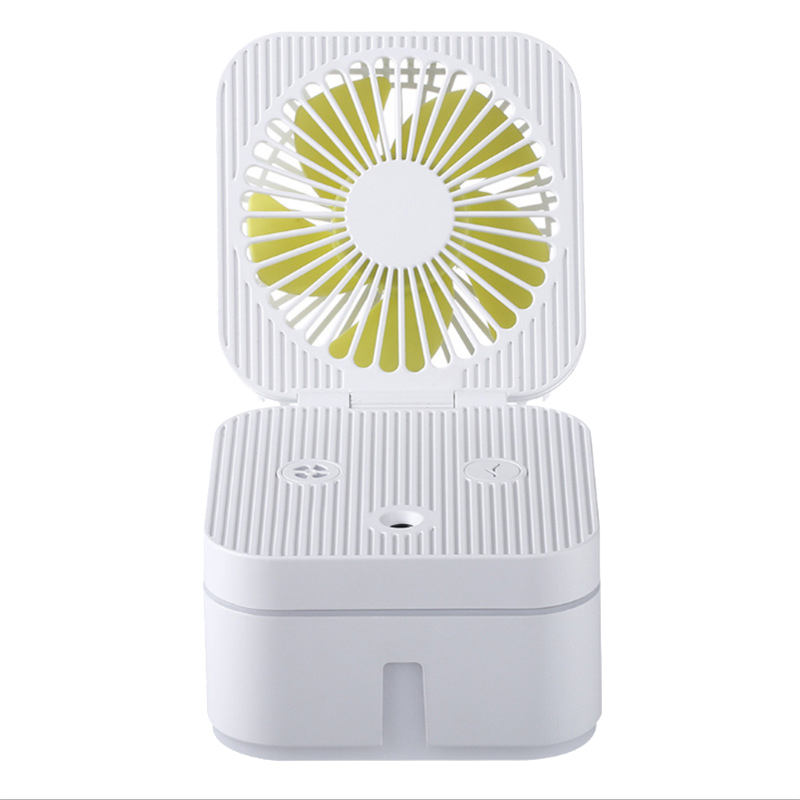 3 in 1 <font><b>Fan</b></font> Humidifier <font><b>USB</b></font> Mute Small <font><b>Fan</b></font> Table Portable <font><b>Fan</b></font> Glowing Air Cooling Folding Humidifier image