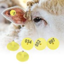 Свинья Ушная этикетка 100 шт. животноводческий круглый номер Ушная бирка маркиратор аксессуар для свинья овца Крупный рогатый скот Ушная бирка для скота