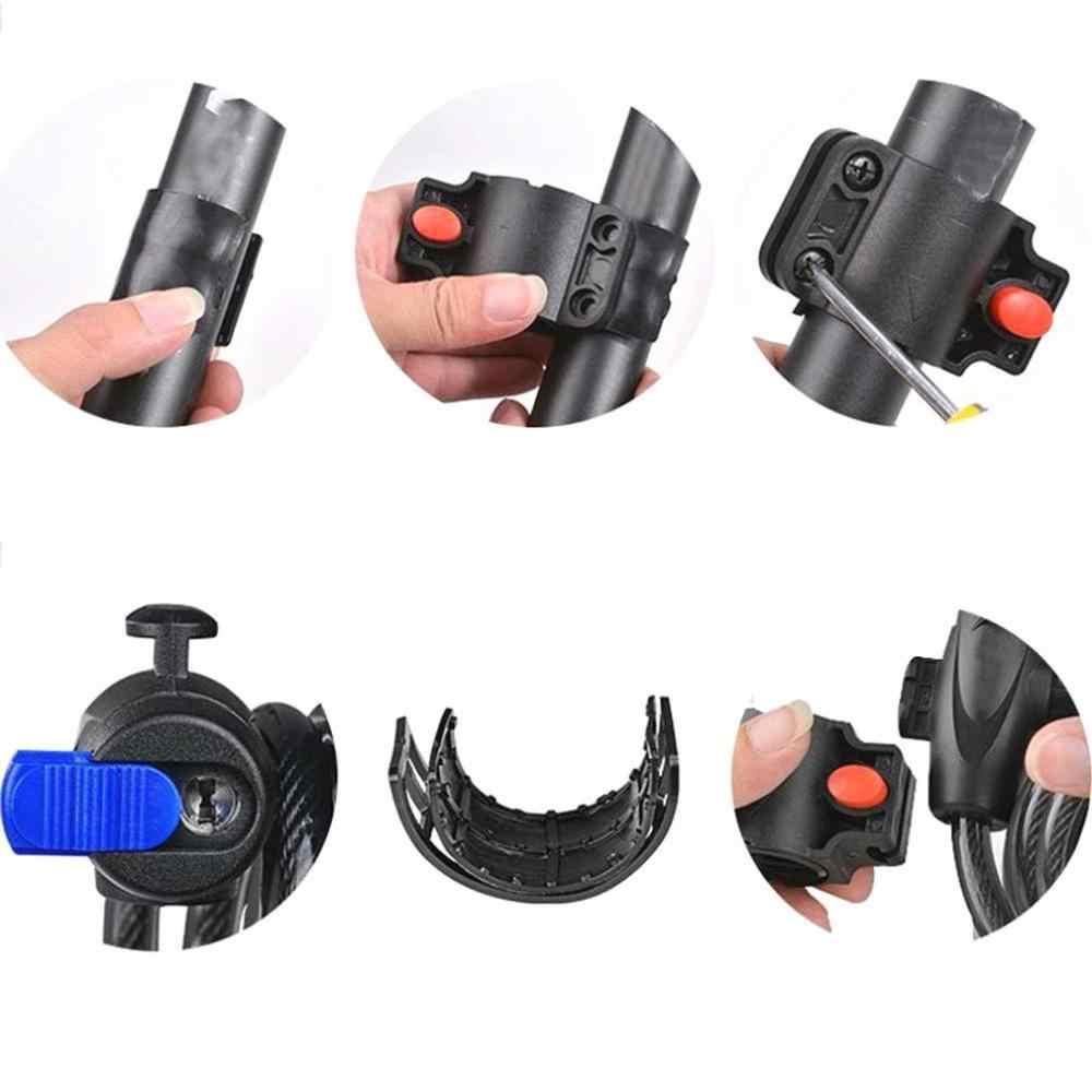 Universal Anti-Pencurian Sepeda Kunci Sepeda Kabel Stainless Steel Coil untuk Castle Motor Siklus MTB Sepeda Kunci Keamanan dengan 2 Kunci
