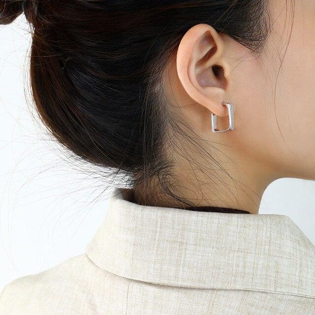 Mini Square Earrings Ear Jewelry Women Fashion Quality Golden Piercing Stud Earrings Korean Ladies Earring Jewellery
