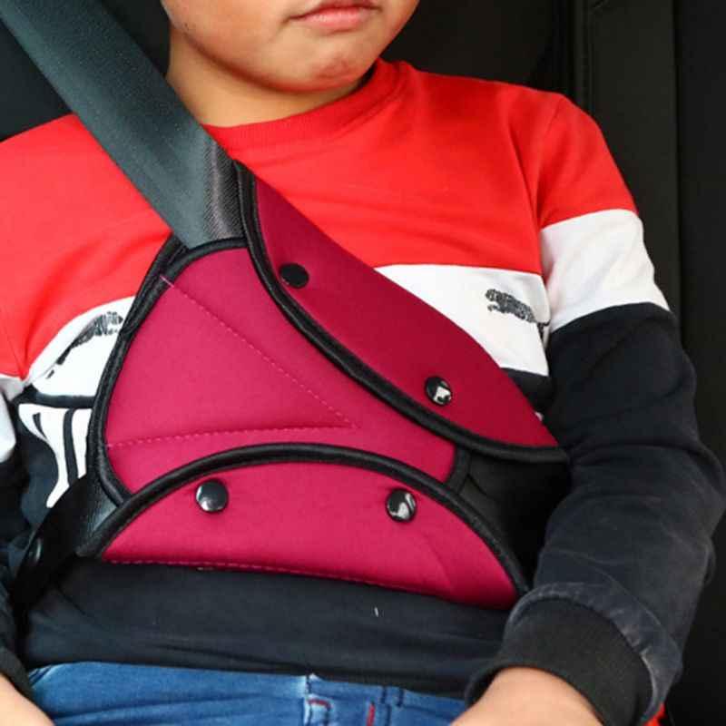 Crianças Cintos de Segurança Do Assento de Carro do bebê Cobrir Proteger Arnês Criança Triângulo Cinta Titular Capa Cintos de segurança de Segurança Do Carro da Criança