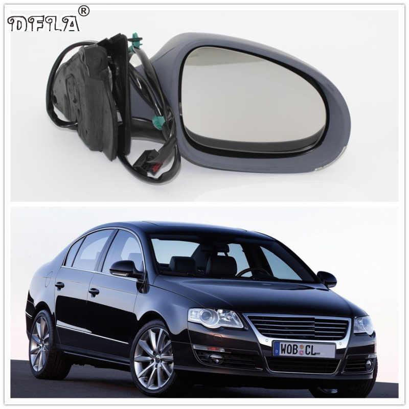 Untuk VW Passat B6 2006 2007 2008 2009 2010 2011 Mobil-Styling Electric Panas Sayap Sisi Belakang Cermin Kanan sisi Penumpang