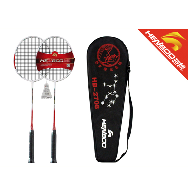 HENBOO Standard Badminton Set Ultra-light Carbon Composite Training Badminton Racket And Tote Bag Lightweight Sports Equipment