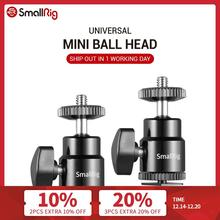 "SmallRig Video Metal Mini Ball Head Cold/Hot Shoe Mount w/ 1/4"" Screw Support Bracket fr DSLR Camera LED Light Monitor  2PCS"