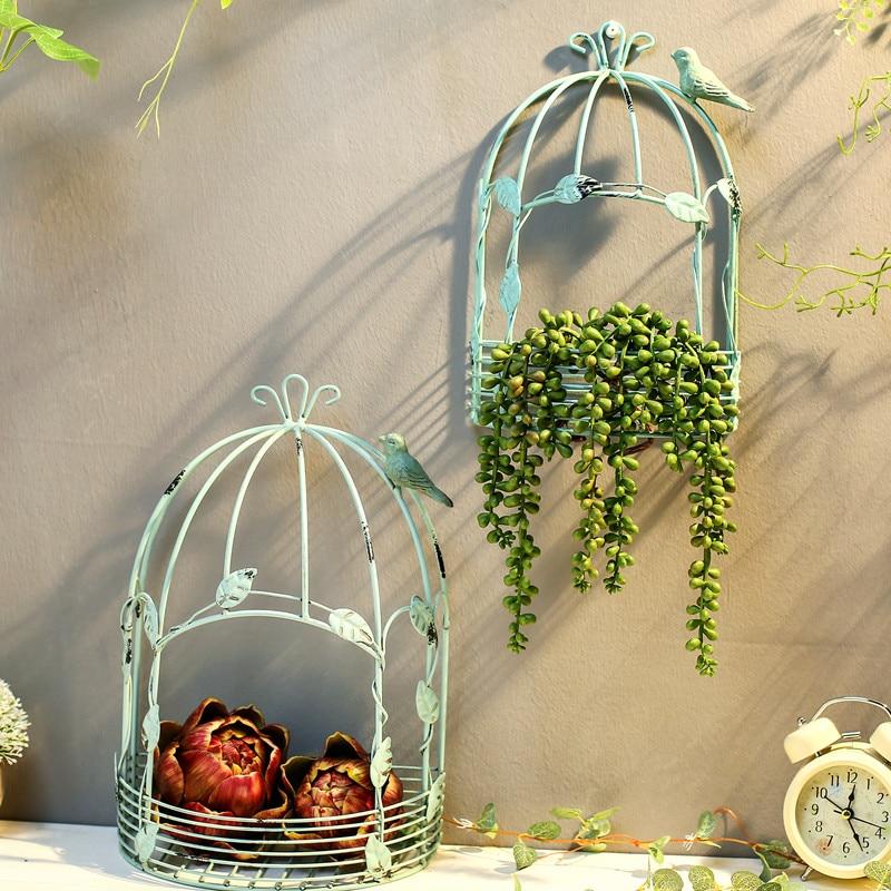 Винтажный американский кантри настенный подвесной из металлической проволоки железная половинная клетка для птиц цветочный горшок садовое украшение|Статуэтки и миниатюры| | - AliExpress