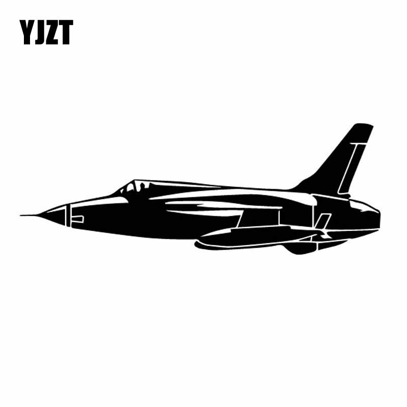 YJZT 16.8CM*6CM Delicate Airplane Advanced Vinyl Decal Aircraft High Quality Car Sticker Cool Black/Silver C27-1181