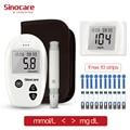 SINOCARE blood glucose meter Safe Accu wit 10 free Test Strips & Lancets for Diabetics, seniors,monitor blood glucose