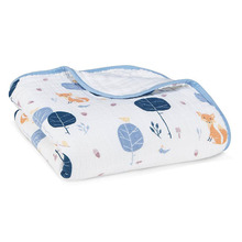 Four Layer Cotton Baby Muslin Blanket Gauze Swaddle Infant Wrap for Bath 120*120cm