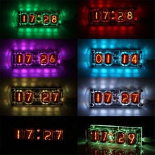 IN12 Glow Tube Clock Seven-color RGB LED DS3231 Nixie Clock IN-12B IN-12 Glow Tube Clock 4-bit Integrated