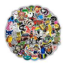 Autocollants JDM en vinyle, étiquette bombe, Cool, aléatoire, pour ordinateur portable, bagages, bouteille d'eau, voiture, vélo, moto, enfants, Graffiti, 50 pièces