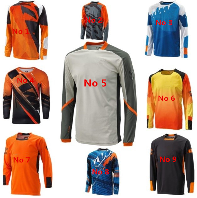 New Motocross Jersey Dirt Bike Cycling Bicycle MX MTB ATV DH Long Sleeve T-Shirts Off-Road Motorcycle Racing Jersey