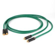 Hi Fi аудио соединительный кабель, 2328 позолоченный 2RCA кабель, высокое качество 6N OFC Hi Fi RCA мужской аудио кабель