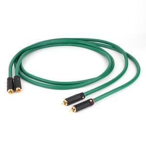 Image 1 - Hifi 오디오 상호 연결 케이블 2328 금도금 2RCA 케이블 고품질 6N OFC HIFI RCA 남성 남성 오디오 케이블