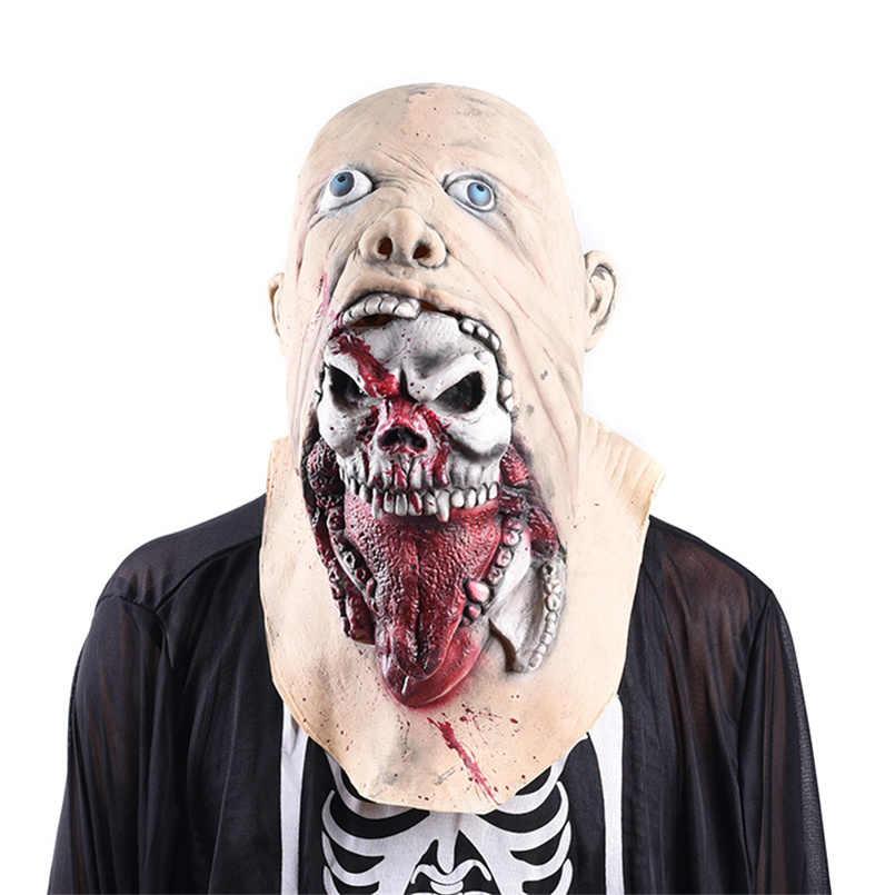 Mascara hallowen Spaventoso Cranio mascara terrore Casa Stregata di Halloween Maschera Diavolo Orrore Spaventoso Halloween Mascherina Del Partito di Cosplay Puntelli