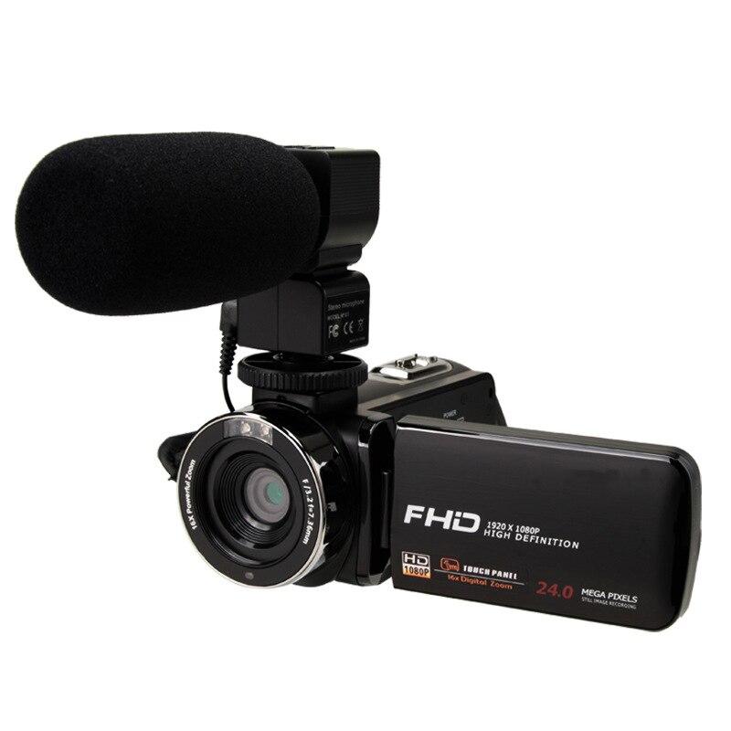 Caméra vidéo 1080P Full Hd Portable caméra vidéo numérique 2400W Pixel 8X Zoom numérique 3.0 pouces presse Lcd écran caméscope