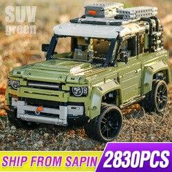 Новый Guardian Внедорожник Land Car Rover Fit Legoings 42110 Technic Defender модель строительные блоки кирпичи игрушки для детей Рождество