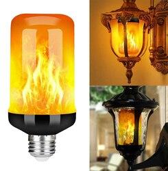 Новинка, для возраста от 9W E27 эффект пламени светодиодный лампы E26 B22 мерцающего огня светодиодный настенный светильник для сада во дворе веч...