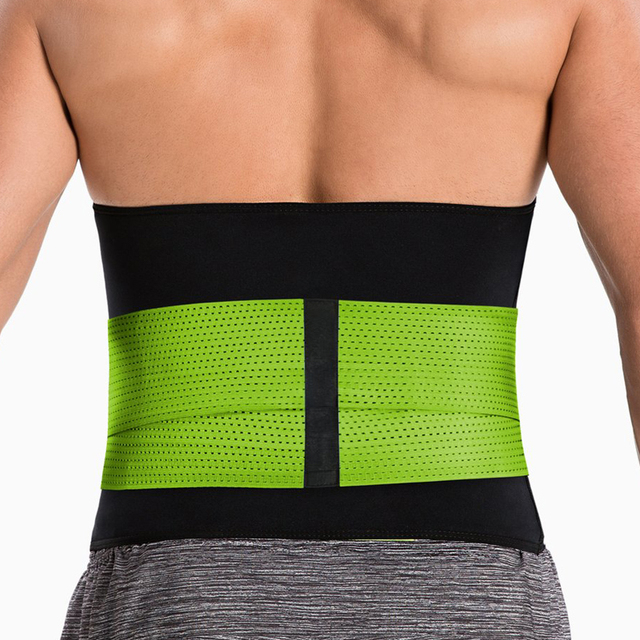 New Back waist support sweat belt waist trainer waist trimmer musculation abdominale fitness belt Sports Safety sauna sweat belt 1
