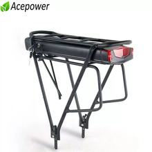 36V 10Ah 13Ah 17Ah Rear Rack Battery 48V 12Ah 14Ah Electric Bicycle Battery for Bafang