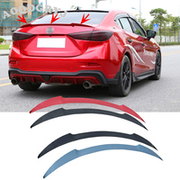 Car Styling Accessories Rear Trunk Wing Lip Spoiler Fit for Mazda 3 Sedan 2014 2018